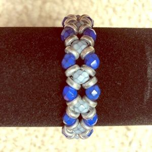 Jewelry - Blue and Gray Beaded Bracelet
